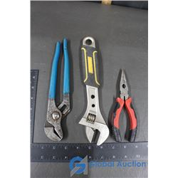 Adjustable Wrench, Pliers (2)