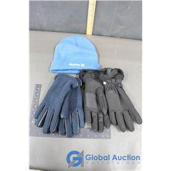 Hurley Toque (Blue), Knit Ladies Gloves (Blue); Head Ladies Med Black Gloves