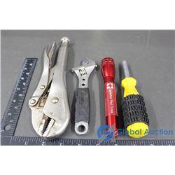 Craftsman Adjustable Pliers, Wrench, Multi-End Screwdriver, Flashlight