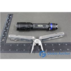 Flashlight & Leatherman Multi Tool