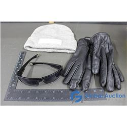 Bench Wool Toque, Locs Sunglasses, Black Leather Isotoner Gloves