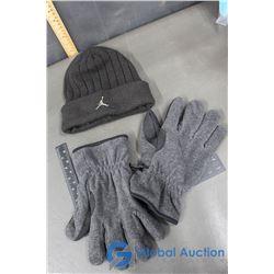 Air Jordon Toque, XL Fleece Gloves