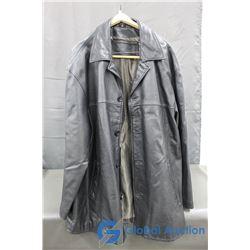 Back Country Men's Black Leather Jacket, size XLT