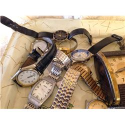 Tray of Watches and Parts