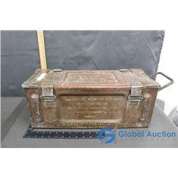 """Metal Ammo Box, 19"""" L x 8""""w x 7"""" h"""