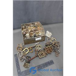 Assorted Vintage Harness Buckles & Metal Items