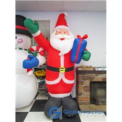 8' Fan Inflated Light Up Santa Claus