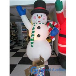 8' Fan Inflated Light Up Snowman