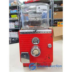 Northwestern 5-Cent Vending Machine w/Square Glass Jar