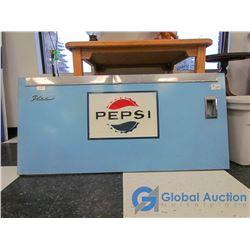 Vintage Metal Pepsi Cooler Panel