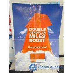 Large Coroplast Areoplan Advertising Sign