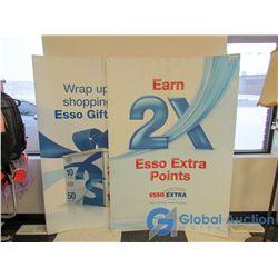 Large Coroplast Esso Advertising Signs - BID PRICE PER SIGN, x2