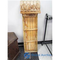 "Vintage Wooden Toboggan - 48"""