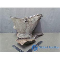 Galvanized Coal Pail & Shovel