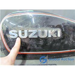 Vintage Suzuki Motorcycle Gas Tank