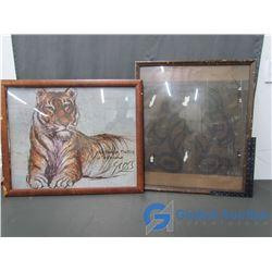 (2) Vintage Framed Art Pictures