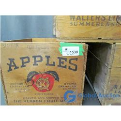 Assorted Wooden Apple Crates (BID PRICE TIMES 3)