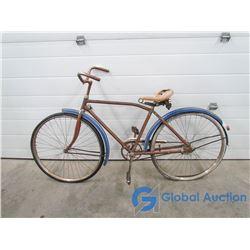 Vintage Blue Cruiser Bicycle