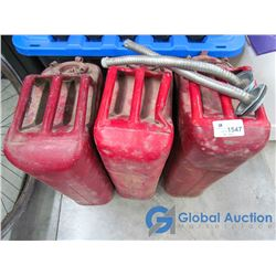 Red Metal Gas Cans - BID PRICE PER CAN, TIMES 3