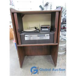 Vintage Electrohome Cabinet Record/8-Track Player