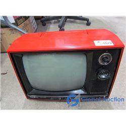 "Vintage Sears Electronic 12"" B/W Portable T.V."