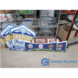 (2) 103rd Grey Cup Fesival & 2 Official Craft Beer Signs