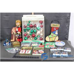 Christmas Related Items & Decor (Coca-Cola Cards in Tin)