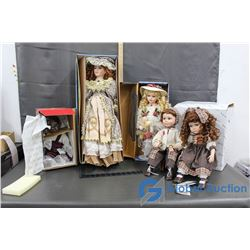A Collection of Porcelain Dolls