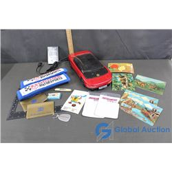 VHS Rewinder Car, Seat Belt Covers, etc