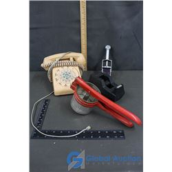 Rotary Phone, Stamper, etc