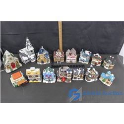 Assorted Christmas Village Decor