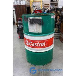 45 Gallon Castrol Motor Oil Metal Drum