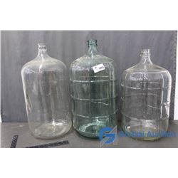 (3) Glass Carvouy