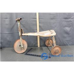 Vintage Metal Kids Tricycle