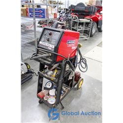 Linclon Mig Pak 10 Mig Welder with Cart Tank and Supplies
