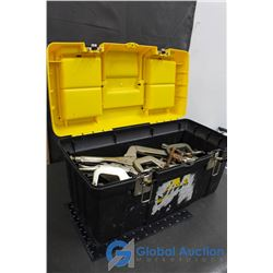 Tool Box of Various Sizes Of C Clamps