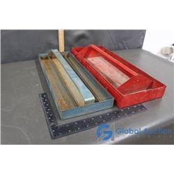 (2) Metal Tool Trays
