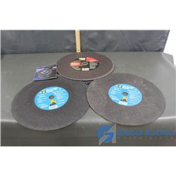 (3) Chop Saw Wheels and a Pack Of Cut Off Disks