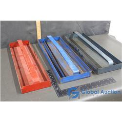 (3) Metal Tool Trays