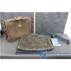 (2) Briefcases, Tree Stand and Book