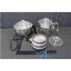 Pyrex Coffee Press & Hot Plate