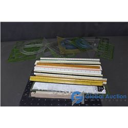 Large Assortment of Rulers