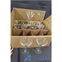 A Dozen Cocktail Glasses