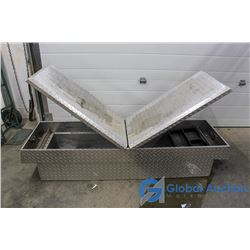 Gull-Wing Checkerplate Truck Tool Box