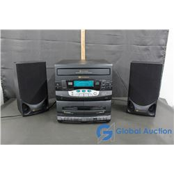 White Western House Stereo with 2 Speakers