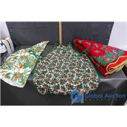 Holiday Table Cloth Tree Shirt and Apron