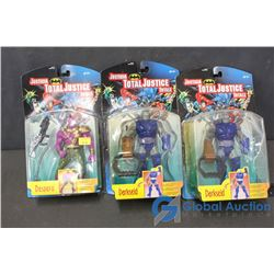 (3) DC Total Justice Toys