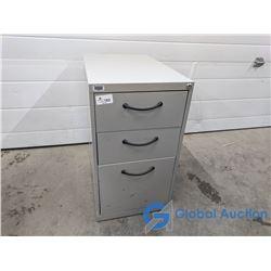 Three Drawer Metal Filing Cabinet (No Key)
