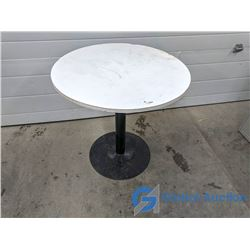 """30"""" Round Table w/ Metal Stand (30"""" High)"""
