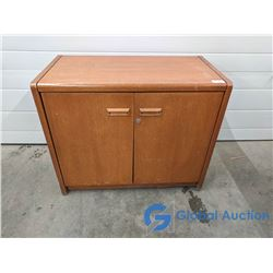 Solid Wood Office Credenza